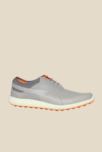 Puma Ignite Drizzle Grey & Orange Golf Shoes