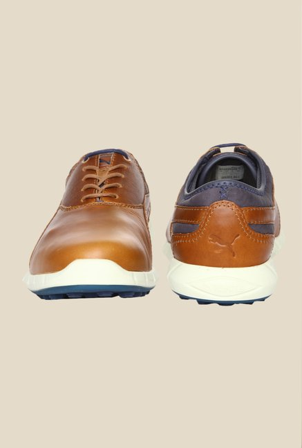 Puma Ignite Chipmunk Brown & Peacoat Golf Shoes