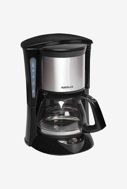 Havells Drip Cafe 12 1.25 L Filter Coffee Maker (Black)