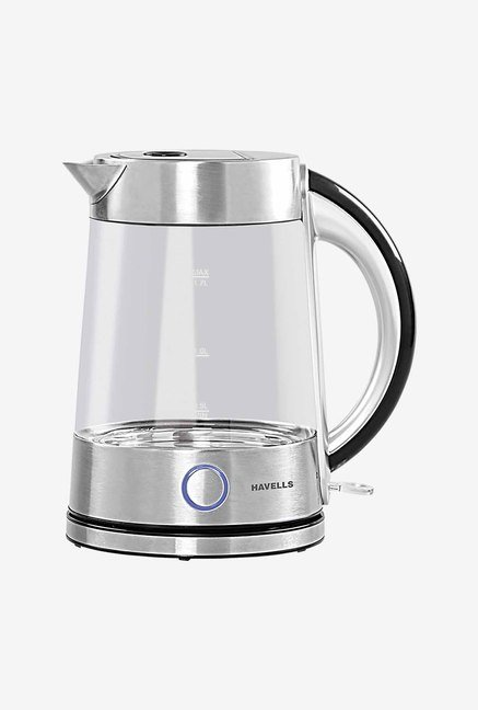 Havells Vetro GHBKTAET220 1.7 L Kettle (Silver & Glass)