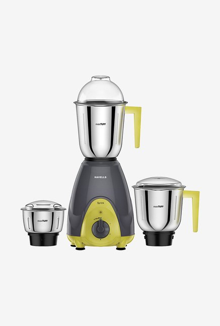 Havells Sprint 600 Watt 3 Jar Mixer Grinder (Grey)