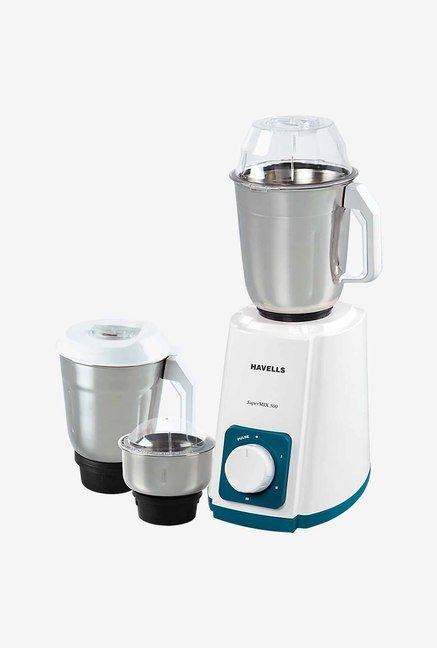 Havells SuperMix 500 3 Jar Watt Mixer Grinder (White)