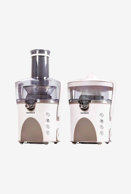 Havells GHFCJAEC090 900W Juicer Extractor (White & Beige)