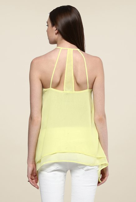 Yepme Patricia Yellow Layered Cami Top
