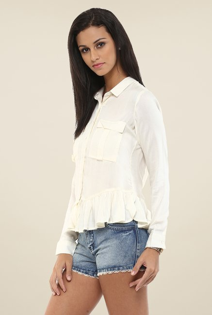 Yepme Amelia White Solid Top