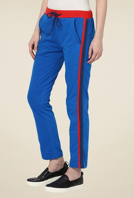 Yepme Blue Alba Solid Track pants