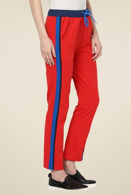 Yepme Red Alba Solid Track pants