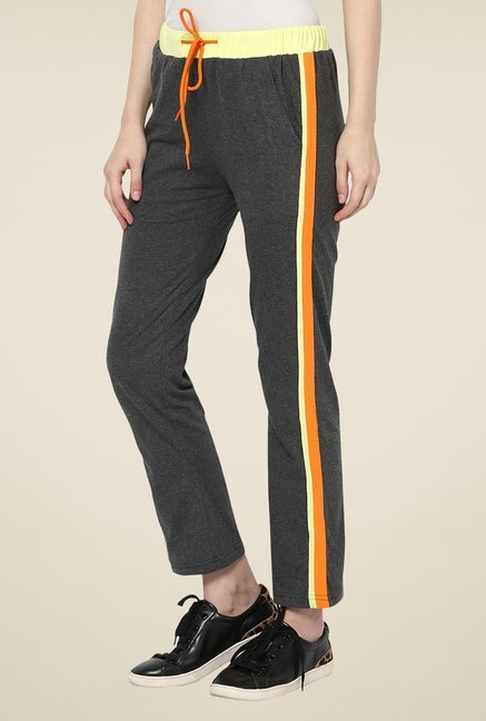 Yepme Grey Alba Solid Track pants