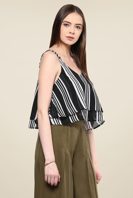 Yepme Lorena Black Striped Cami Top
