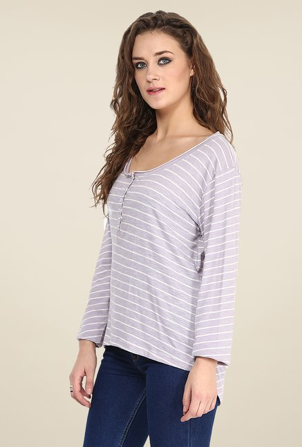 Yepme Irene Grey Henley Top