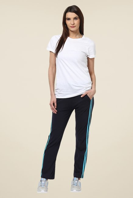 Yepme Navy Leanne Solid Track pants