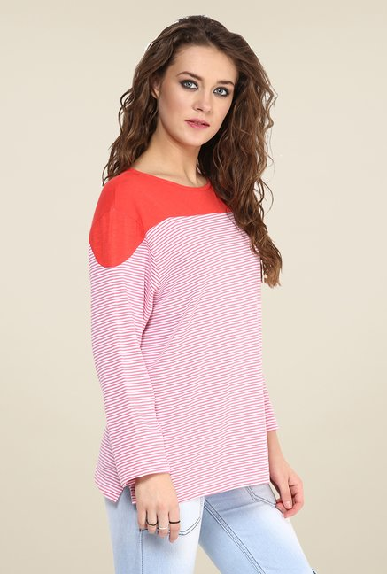 Yepme Louisa Red Striped Top