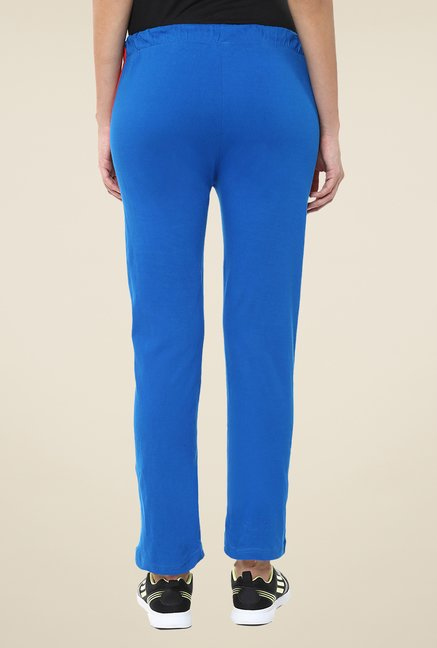 Yepme Royal Blue Leanne Solid Track pants