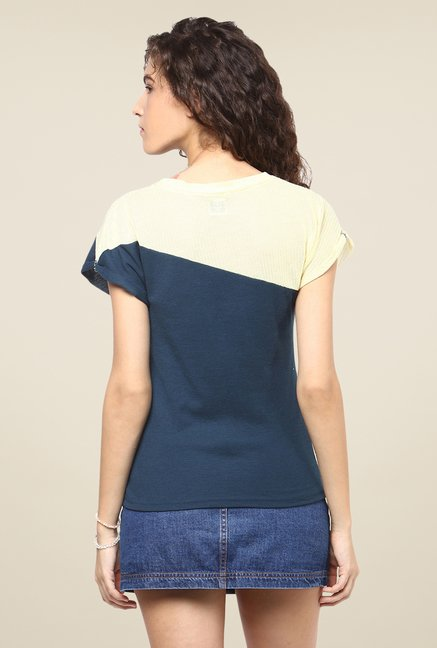Yepme Emilia Blue & Yellow Top