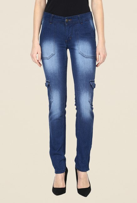 Yepme Blue Alexa Light Washed Jeans