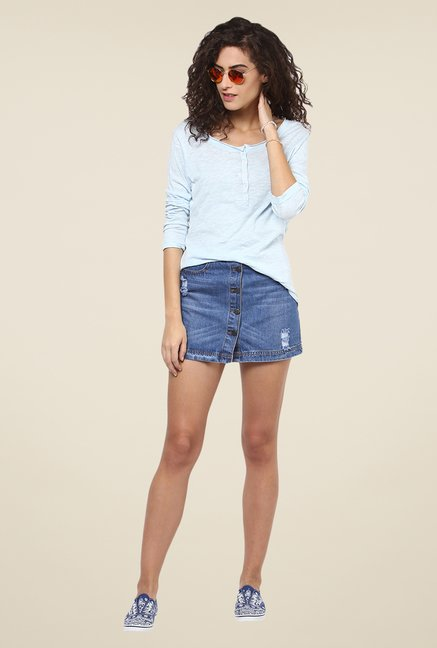 Yepme Irene Blue Henley Top