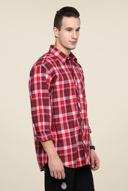 Yepme Red Premium Checks Shirt