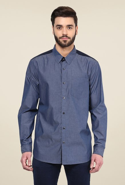 Yepme Navy Warren Party Shirt