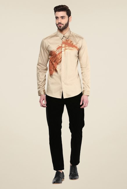 Yepme Beige Dannic Party Shirt