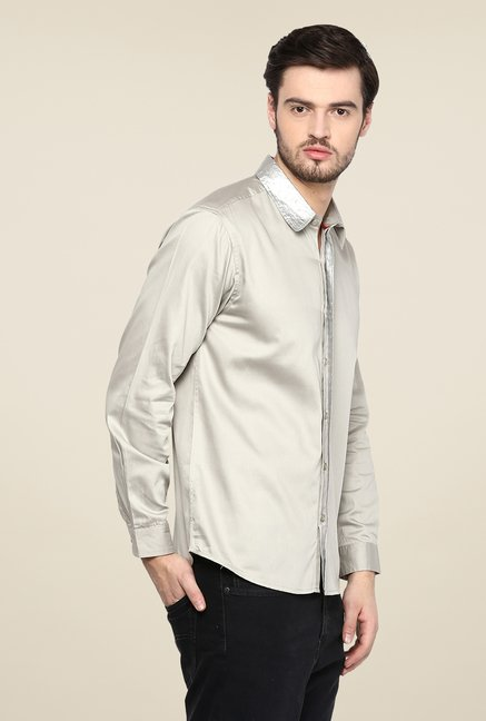 Yepme Grey Asher Foil Print Party Shirt