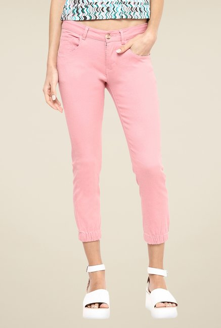 Yepme Peach Stephy Solid Joggers