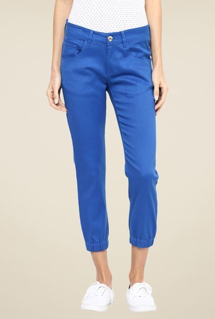 Yepme Blue Stephy Solid Joggers