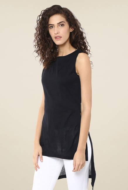 Yepme Black Asymmetrical Top