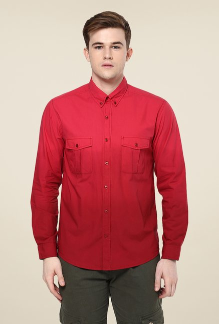 Yepme Red Marvin Premium Ombre Shirt