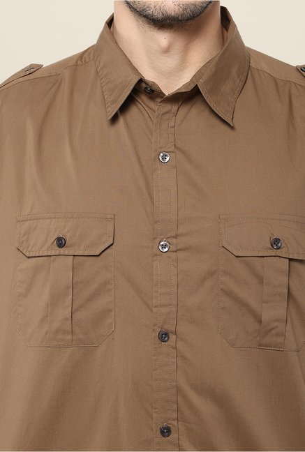 Yepme Brown Dominique Premium Cargo Shirt