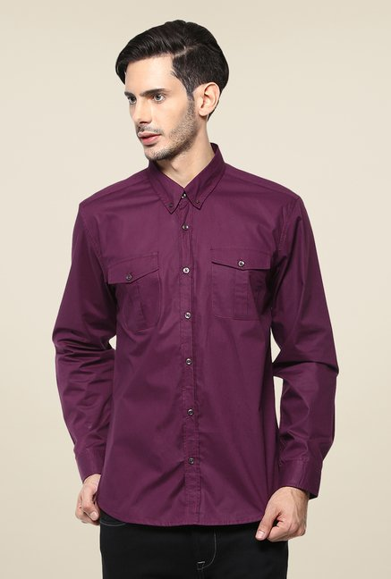 Yepme Purple Parkinn Premium Shirt