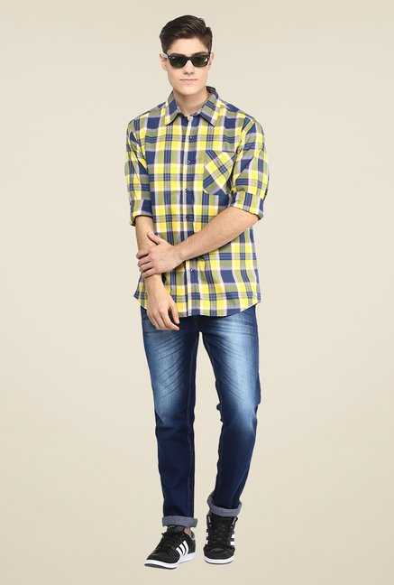 Yepme Yellow Checks Shirt