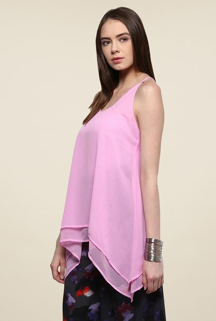 Yepme Patricia Pink Layered Cami Top