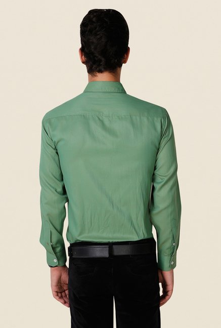 Yepme Green Rodrick Premium Regular Fit Shirt