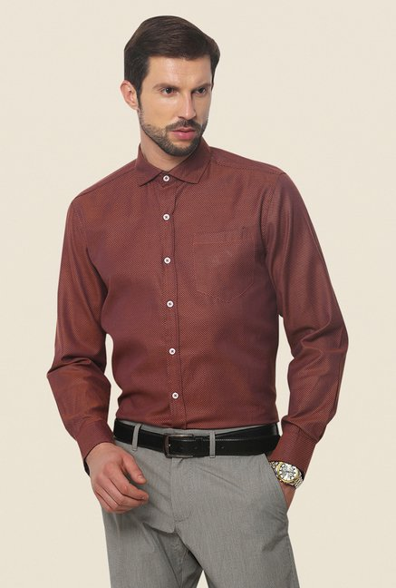 Yepme Orange Hamlett Premium Shirt