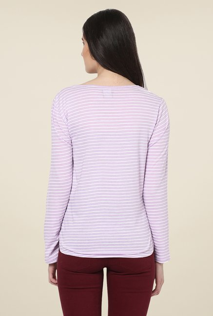 Yepme Rivera Purple Striped Top