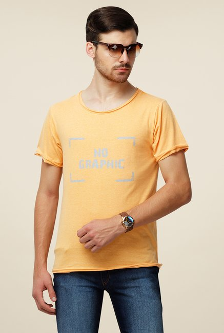 Yepme Orange Janesen Premium Printed T Shirt