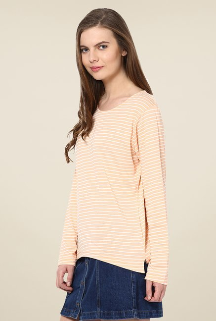 Yepme Rosa Orange Striped Top