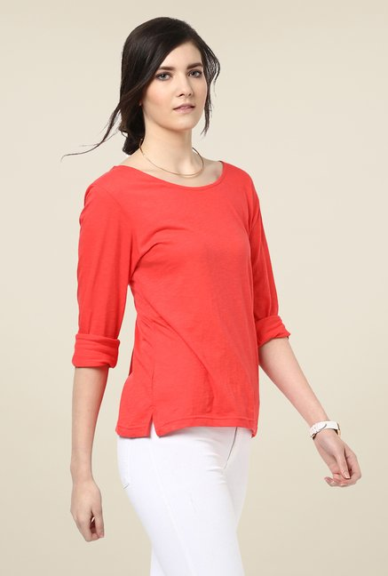 Yepme Rosa Orange Solid Top
