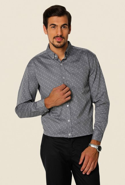 Yepme Grey Freddo Premium Cotton Shirt