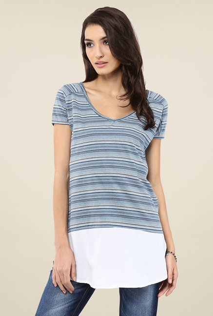 Yepme Celine Blue Striped Top