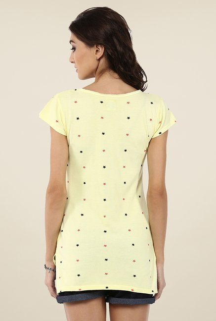 Yepme Melinda Yellow Star Print Top