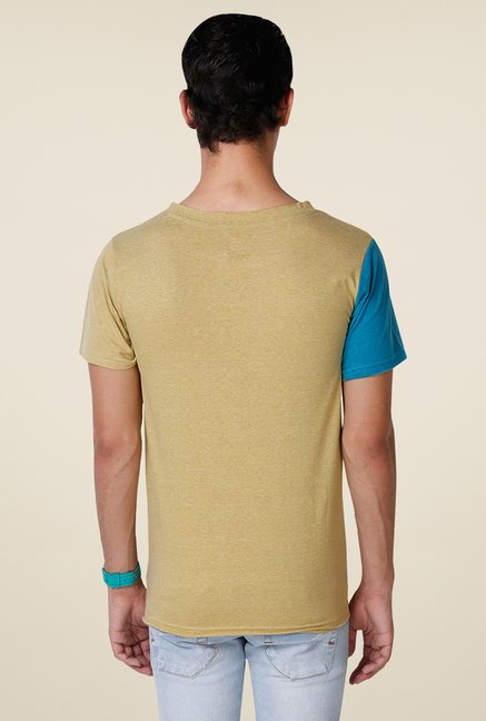 Yepme Yellow Stine Premium Solid T Shirt