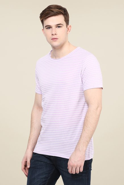 Yepme Pink Striped T Shirt