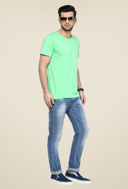 Yepme Green Solid T Shirt
