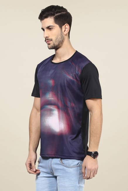 Yepme Purple Printed T Shirt
