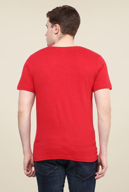 Yepme Red Tequilla Printed T Shirt