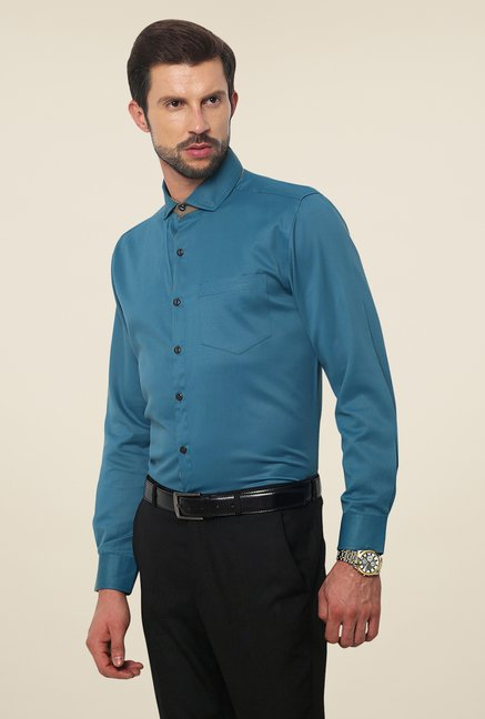 Yepme Blue Roswell Premium Slim Fit Shirt