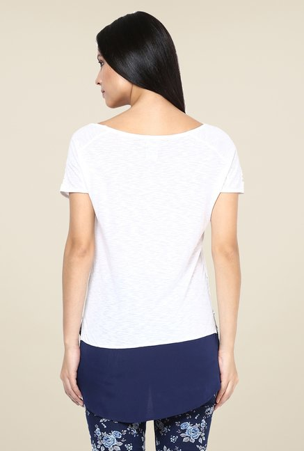 Yepme Celine White & Blue Twofer Top