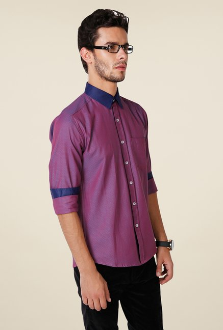 Yepme Purple Hanfred Premium Shirt