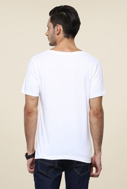 Yepme White Club Printed T Shirt